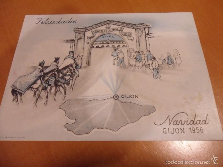 Postales: SANATORIO MARITIMO. GIJON. NAVIDAD DE 1956. - Foto 2 - 55357618