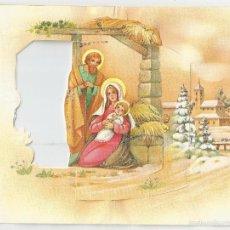 Postales: FELICITACION NAVIDAD TROQUELADA *LÓPEZ* - CON DESPLEGABLE Y PURPURINA, 1985. Lote 55796544