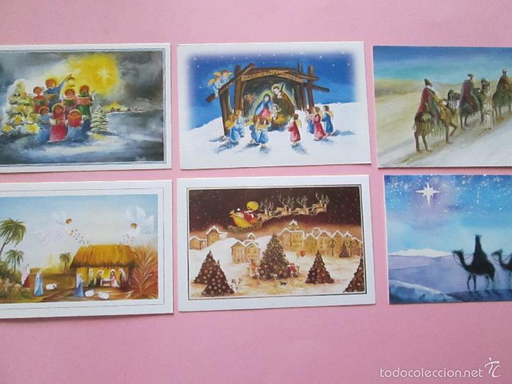 LOTE 6 POSTALES-NAVIDAD-DIFERENTES AUTORES-HORIZONTALES-SOBRES-VER FOTOS-(3) (Postales - Postales Temáticas - Navidad)