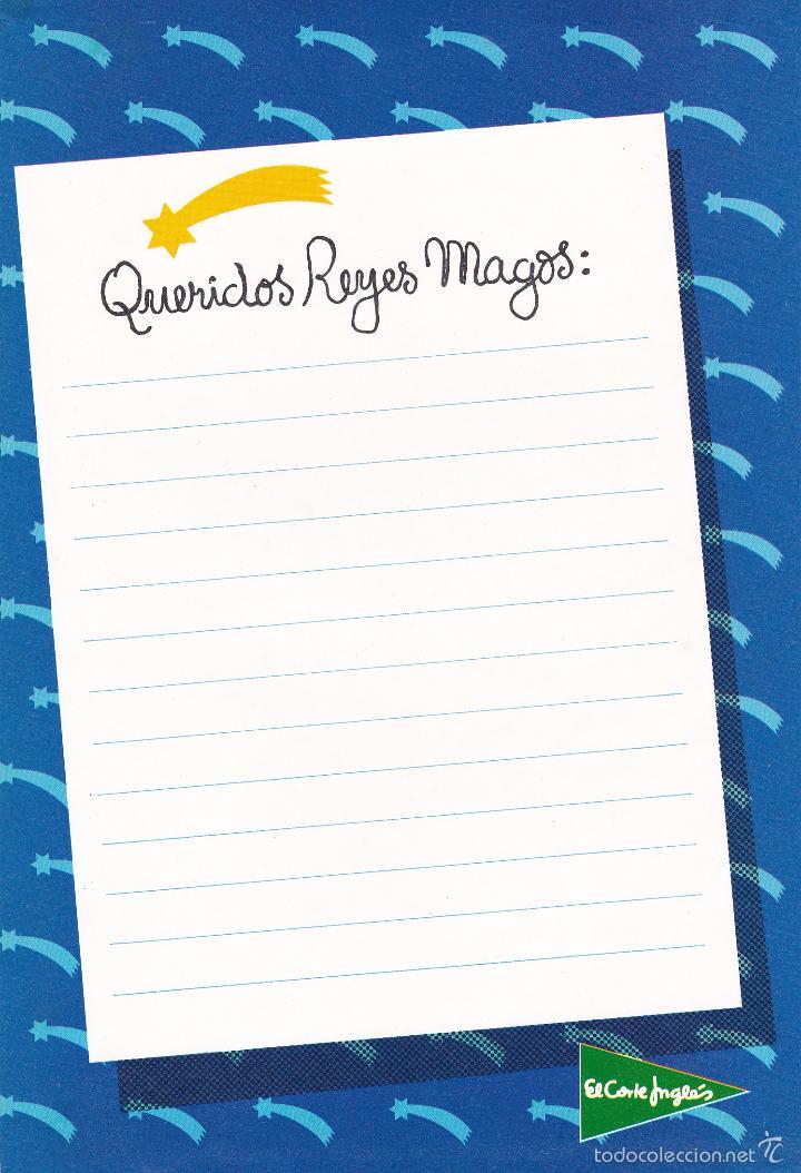 Carta A Los Reyes Magos El Corte Ingles Comprar Postales Antiguas