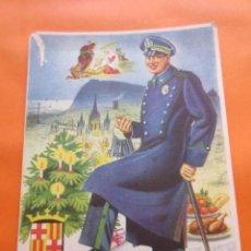 Postales: FELICITACION EL VIGILANTE - BARCELONA -. Lote 56974759