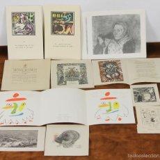Postales: DI-069. COLECCION DE 29 FELICITACIONES NAVIDEÑAS. VARIOS ARTISTAS. GRABADOS Y DIBUJOS. SIGLO XX. . Lote 57323123