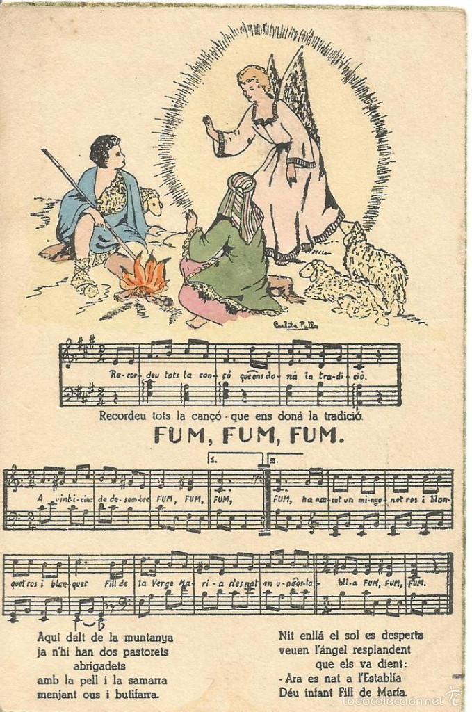 Antigua Postal Navidad Dibujo Ilustrada Carlota Comprar Postales - Postales-navidad-dibujos