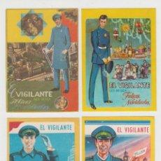 Postales: LOTE 4 FELICITACIONES DE NAVIDAD, EL VIGILANTE AÑOS 60-70. Lote 58563920