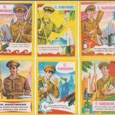 Postales: LOTE 6 FELICITACIONES DE NAVIDAD, EL BARRENDERO AÑOS 50-70. Lote 58563971