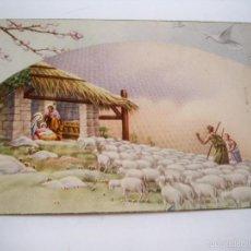 Postales: TARJETA POSTAL FELICITACION NAVIDEÑA - FECHADA 1950. Lote 59986287