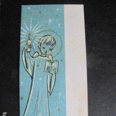 Postales: TARJETA FELICITACION NAVIDAD ANGEL ESCRITA AÑO 1964. Lote 61510843