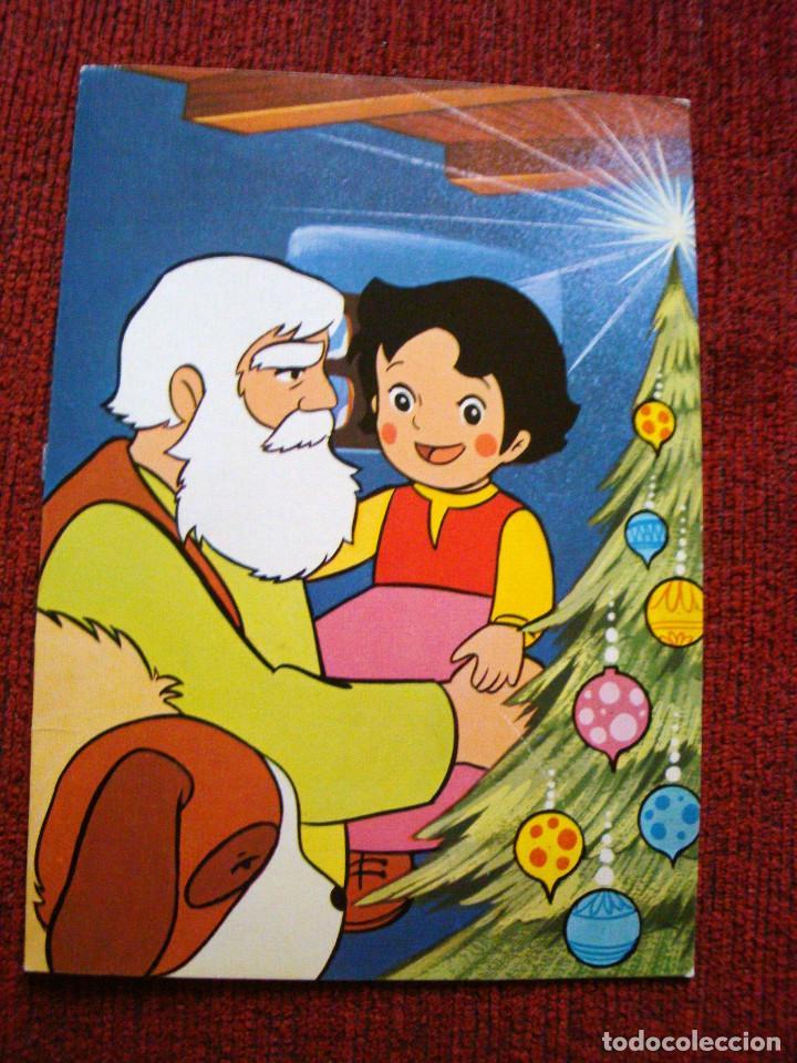 HEIDI NIEBLA POSTAL GRANDE DOBLE DE NAVIDAD 1975 (Postales - Postales Temáticas - Navidad)