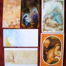 Postales: NAVIDAD COLECCIÓN POSTAL AÑOS 70-80 12 POSTALES SAGRADA FAMILIA VARIADAS. Lote 64652383