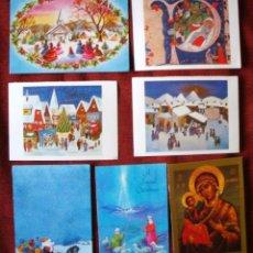 Postales: NAVIDAD POSTAL COLECCIÓN DE 10 POSTALES VARIADAS AÑOS 70-80. Lote 62425932