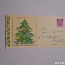 Postales: POSTAL FELICITACION NAVIDEÑA CON DEDICATORIA Y SELLO REY JUAN CARLOS. TDKP8. Lote 62743844