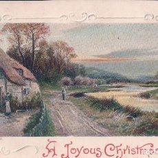 Postales: POSTAL ANTIGUA DE NAVIDAD.A TOYOUS CHRISTMAS. RELIEVE. CIRCULADA 1908. Lote 63446828