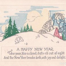 Postales: POSTAL ANTIGUA DE NAVIDAD. A HAPPY NEW YEAR. SERIE C 319 MADE IN USA. Lote 63681691