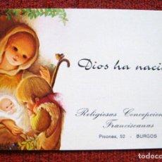 Postales: NAVIDAD PRECIOSA RELIGIOSAS CONCEPCIONISTAS FRANCISCANAS BURGOS BETLEM T 0222043 F. Lote 63730939