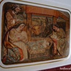 Postales: NAVIDAD FOTO POSTAL DOBLE NACIMIENTO P. DELANESTOSA-J. DE POBES CASTRILLO DE MURCIA GS 5608. Lote 63731943