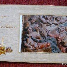 Postales: NAVIDAD FOTO POSTAL RETABLO IGLESIA PARROQUIAL VILLASANDINO POSTALES ORTIZ X715 AÑOS 80. Lote 63743363