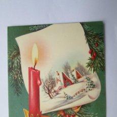 Postales: 1953 NAVIDAD VELA NIEVE. CHRISTMAS CANDLE SNOW.. Lote 63822263