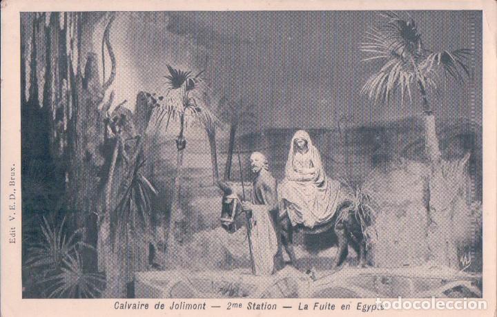 POSTAL ANTIGUA DE NAVIDAD. CALVAIRE DE JOLIMONT. LA FUITE EN EGYPTE (Postales - Postales Temáticas - Navidad)