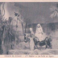 Postales: POSTAL ANTIGUA DE NAVIDAD. CALVAIRE DE JOLIMONT. LA FUITE EN EGYPTE. Lote 64092211