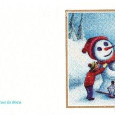 Postales: FELICITACION NAVIDAD - ORIGINAL PINTADO CON LA BOCA. Lote 66510482