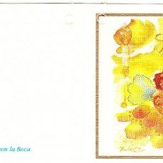 Postales: FELICITACION NAVIDAD - ORIGINAL PINTADO CON LA BOCA. Lote 66510522