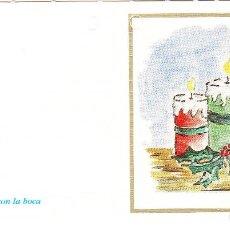 Postales: FELICITACION NAVIDAD - ORIGINAL PINTADO CON LA BOCA. Lote 66510546