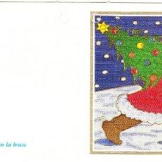 Postales: FELICITACION NAVIDAD - ORIGINAL PINTADO CON LA BOCA. Lote 66510574