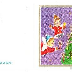 Postales: FELICITACION NAVIDAD - ORIGINAL PINTADO CON LA BOCA. Lote 66510598