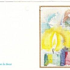 Postales: FELICITACION NAVIDAD - ORIGINAL PINTADO CON LA BOCA. Lote 66510650