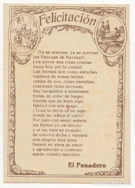 Postales: TARJETA POSTAL FELICITACION NAVIDAD EL PANADERO. AÑOS 40 - Foto 2 - 67608109
