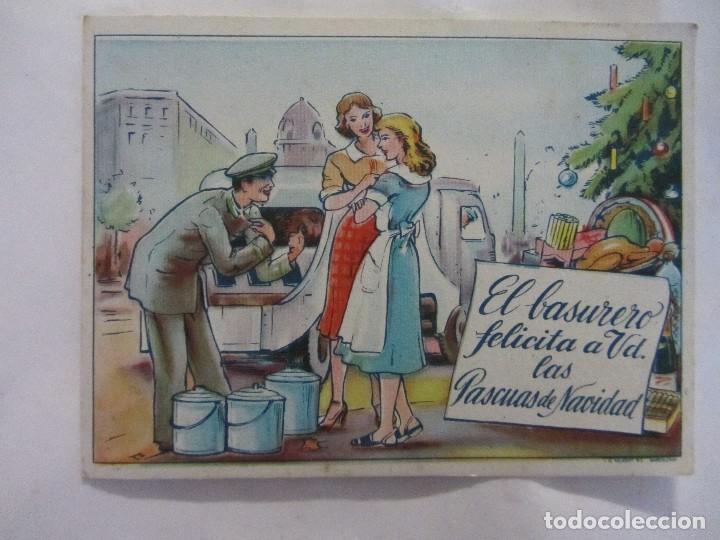 FELICES PASCUAS. EL BASURERO. (Postales - Postales Temáticas - Navidad)