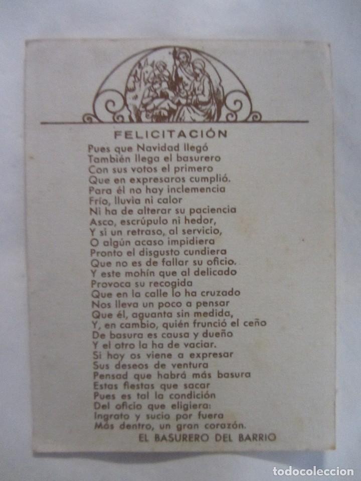 Postales: FELICES PASCUAS. EL BASURERO. - Foto 2 - 67751477
