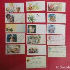 Postales: LOTE DE 16 MINIFELICITACIONES DE NAVIDAD AÑOS 60.. Lote 67911597