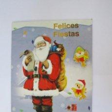 Postales: FELICES FIESTAS PAPA NOEL. JOYEUSES FÊTES SANTA CLAUS. HAPPY HOLIDAYS.. Lote 68084881