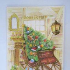 Postales: BOAS FESTAS. HAPPY HOLIDAYS. BUENAS FIESTAS.. Lote 68185905