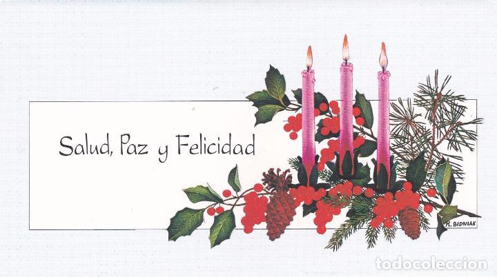 postal doble navidad alegoria artis muti original pintado boca nueva sin escribir