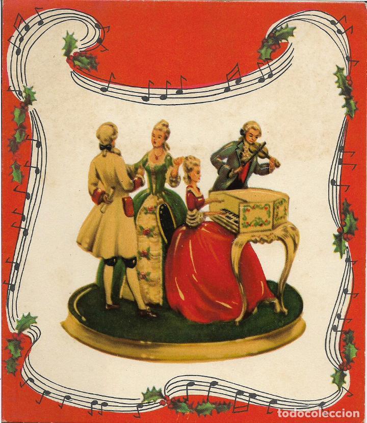 FELICITACION NAVIDAD TROQUELADA - PRINTED IN WESTERN GERMANY (Postales - Postales Temáticas - Navidad)
