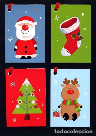 Lote 4 mini tarjetas navidad con purpurina de 8 comprar - Targetas de navidad originales ...