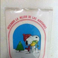 Postales: ANTIGUO CHRISTMAS DE NAVIDAD, SNOOPY. EN RELIEVE. PRECIOSOS. SIN USAR. Lote 69753565