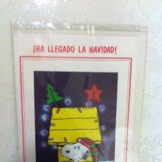 Postales: ANTIGUO CHRISTMAS DE NAVIDAD, SNOOPY. EN RELIEVE. PRECIOSOS. SIN USAR. Lote 69753669