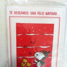 Postales: ANTIGUO CHRISTMAS DE NAVIDAD, SNOOPY. EN RELIEVE. PRECIOSOS. SIN USAR. Lote 69753701