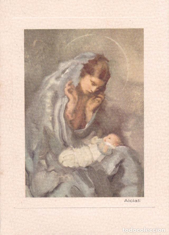 POSTAL DOBLE NAVIDAD - PRINTED IN ITALY - ED. D'ARTE DORDONI. MILAN - ALCIATI - ESCRITA 1958 (Postales - Postales Temáticas - Navidad)