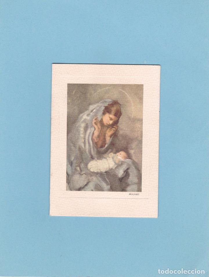 Postales: POSTAL DOBLE NAVIDAD - PRINTED IN ITALY - ED. D'ARTE DORDONI. MILAN - ALCIATI - ESCRITA 1958 - Foto 2 - 72709279