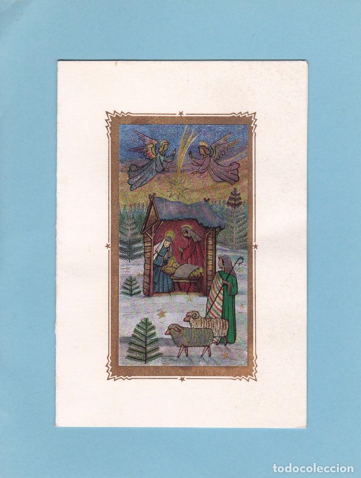 POSTAL DOBLE NAVIDAD - PRINTED IN GERMANY - ESCRITA (Postales - Postales Temáticas - Navidad)