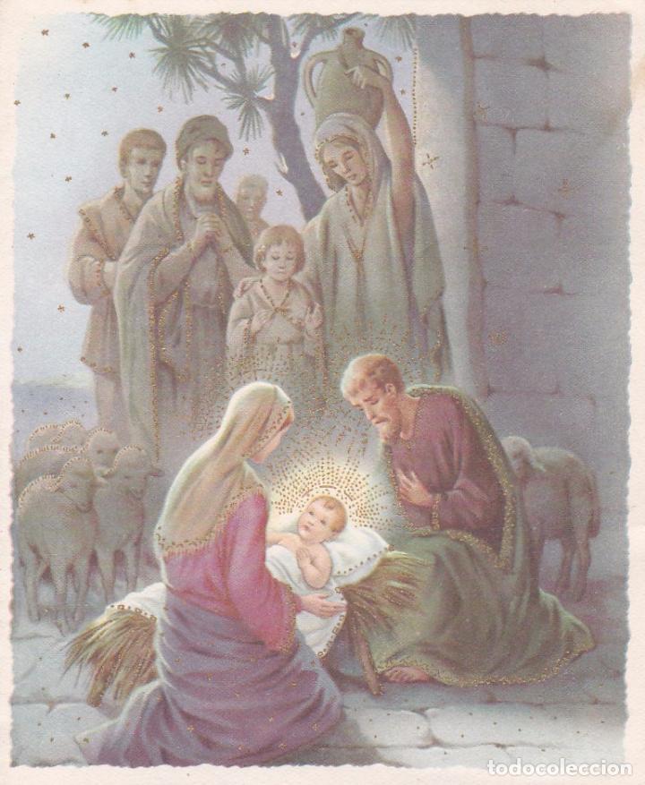 POSTAL DOBLE NAVIDAD - PRINTED IN ITALY - ESCRITA 1960 (Postales - Postales Temáticas - Navidad)