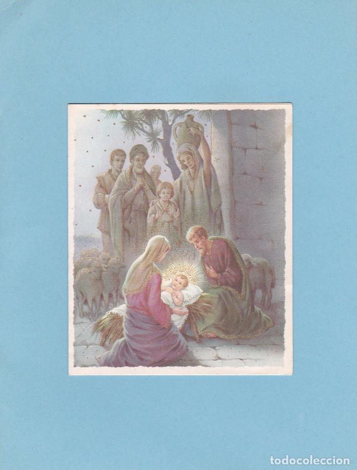 Postales: POSTAL DOBLE NAVIDAD - PRINTED IN ITALY - ESCRITA 1960 - Foto 2 - 72822931