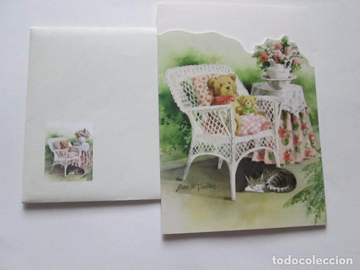 Postales: lote 9 tarjetas navideñas-nuevas-preciosas-escasas-sobres-ver fotos. - Foto 4 - 75110271