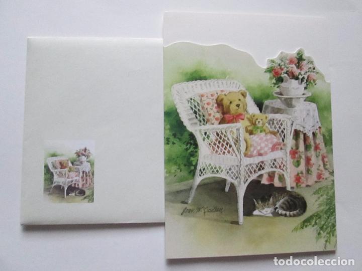 Postales: lote 9 tarjetas navideñas-nuevas-preciosas-escasas-sobres-ver fotos. - Foto 5 - 75110271