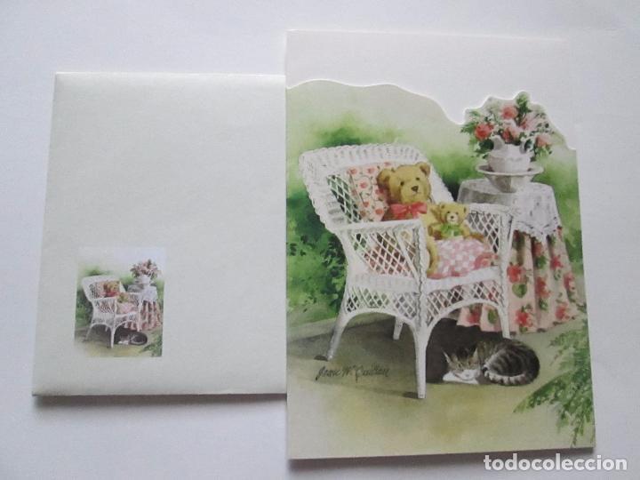 Postales: lote 9 tarjetas navideñas-nuevas-preciosas-escasas-sobres-ver fotos. - Foto 6 - 75110271