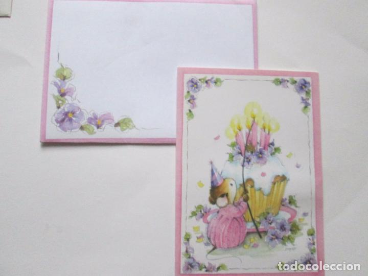 Postales: lote 9 tarjetas navideñas-nuevas-preciosas-escasas-sobres-ver fotos. - Foto 7 - 75110271